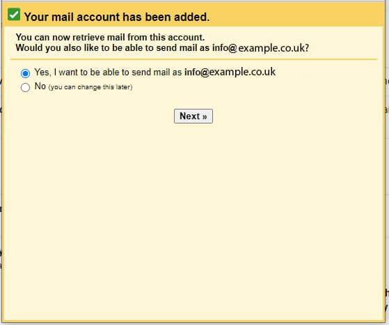 Sync email to gmail step 6